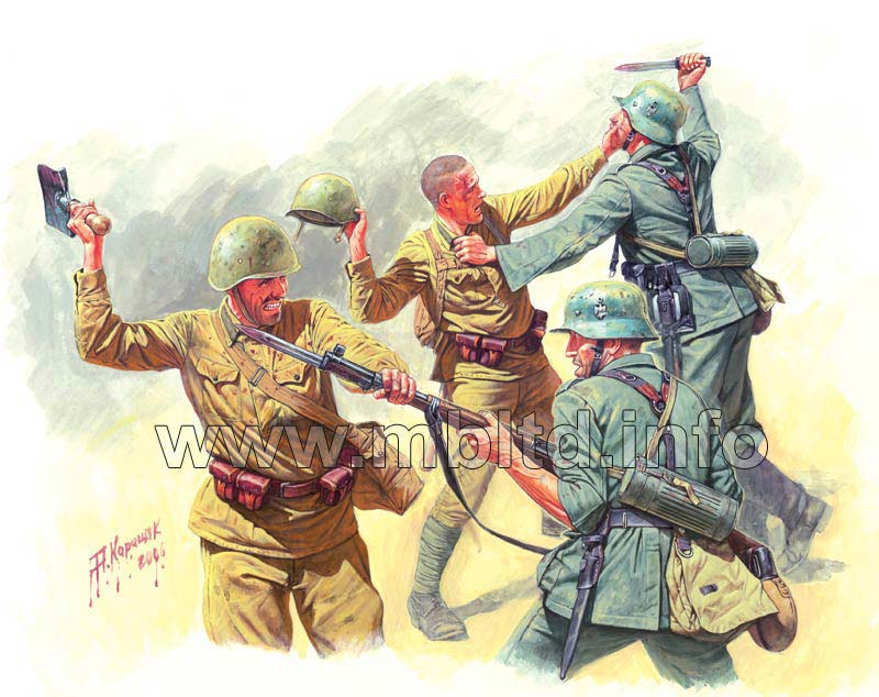 MASTER BOX Eastern Front Series. Kit No 3. Hand-to-hand fight, 1941-1942