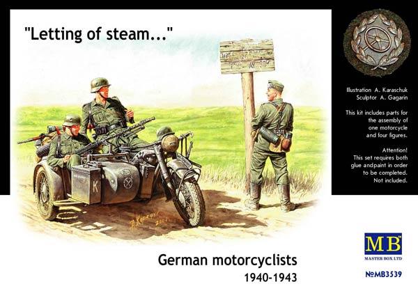 MASTER BOX German motorcyclists, 1940-1943