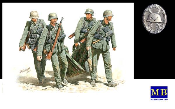MASTER BOX 1/35 Casualty Evacuation, German Infantry, Stalingrad, Summer 1942