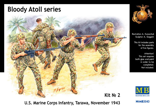 MASTER BOX Bloody Atoll series. Kit No 2, US Marine Corps Infantry, Tarawa, November 1943