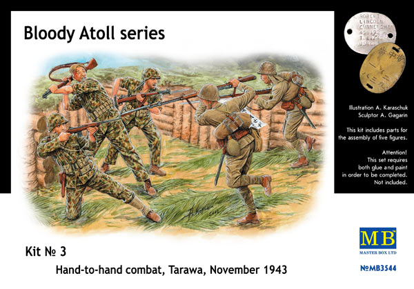 MASTER BOX Bloody Atoll series. Kit No 3, Hand-to-hand combat, Tarawa, November 1943