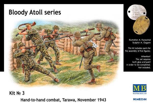 MASTER BOX 1/35 Bloody Atoll series. Kit No 3, Hand-to-hand combat, Tarawa, November 1943