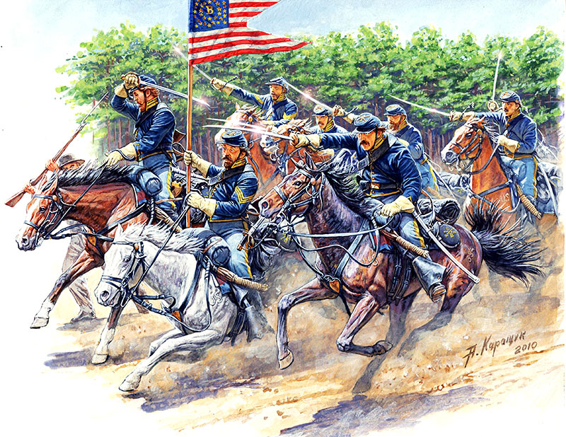 MASTER BOX 8th Pennsylvania Cavalry, 89th Regiment Pennsylvanian Volunteers, Battle of Chancellorsville, May, 2nd, 1863. American Civil War Series. Attack!