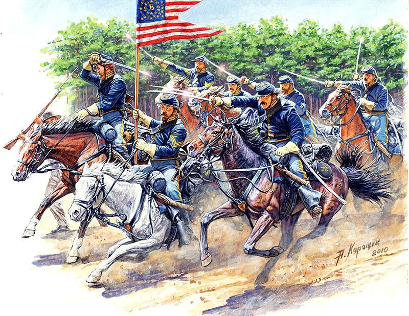MASTER BOX 1/35 8th Pennsylvania Cavalry, 89th Regiment Pennsylvanian Volunteers, Battle of Chancellorsville, May, 2nd, 1863. American Civil War Series. Attack!