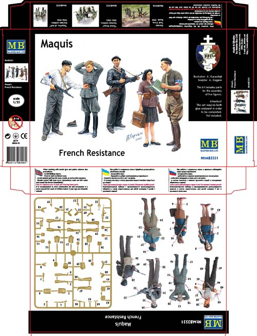 MASTER BOX 1/35 Maquis, French Resistance