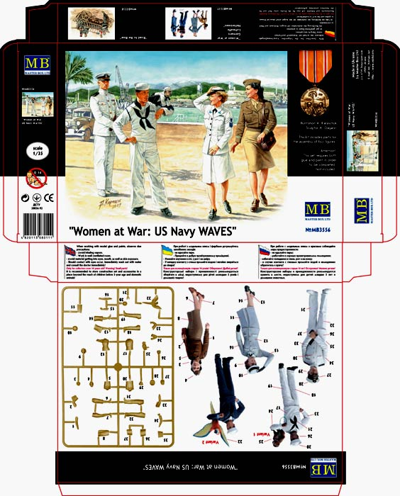 MASTER BOX Women at War: US Navy WAVES