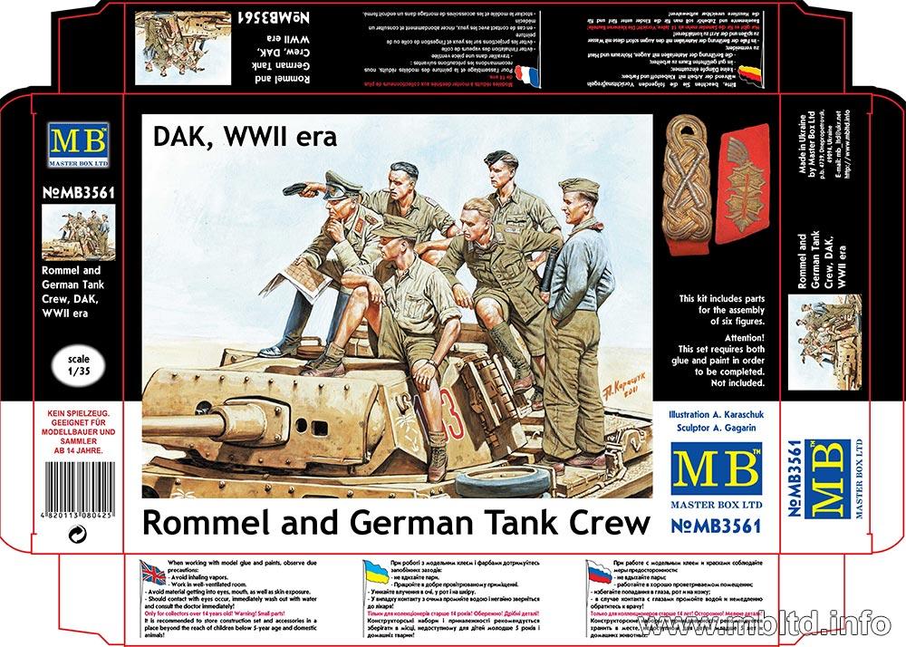 MASTER BOX Rommel and German Tank Crew, DAK, WW II era