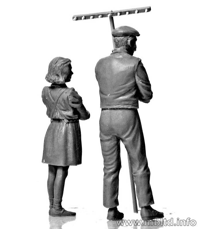 MASTER BOX 1/35 Civilians, Western region, WW II era