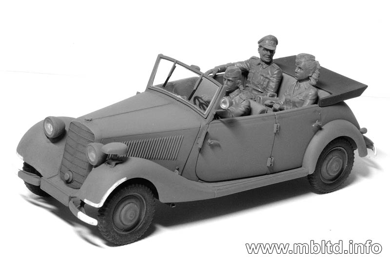 MASTER BOX Frulein, what are you doing today? German military men, WW II era