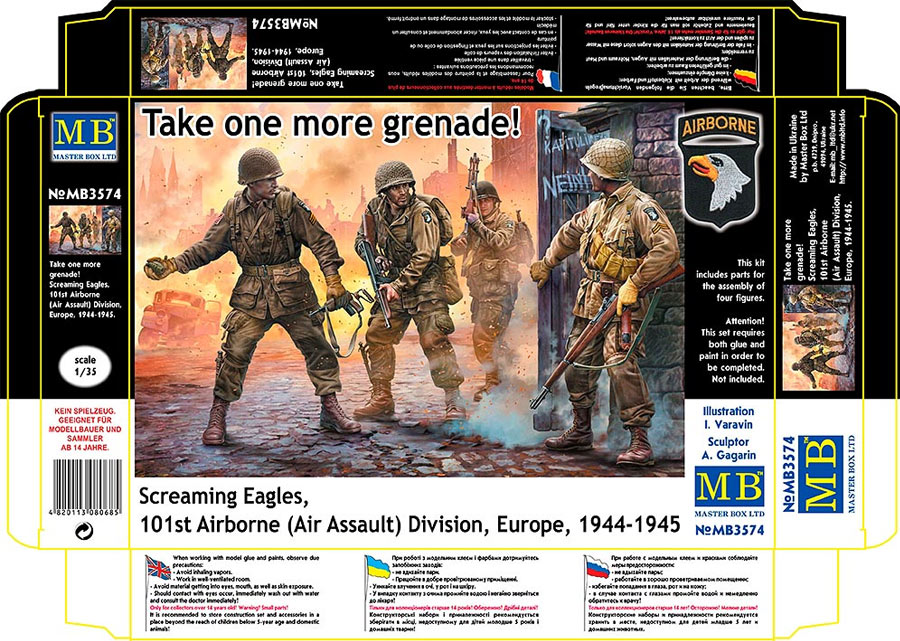 MASTER BOX Take one more grenade! Screaming Eagles, 101st Airborne (Air Assault) Division, Europe, 1944-1945