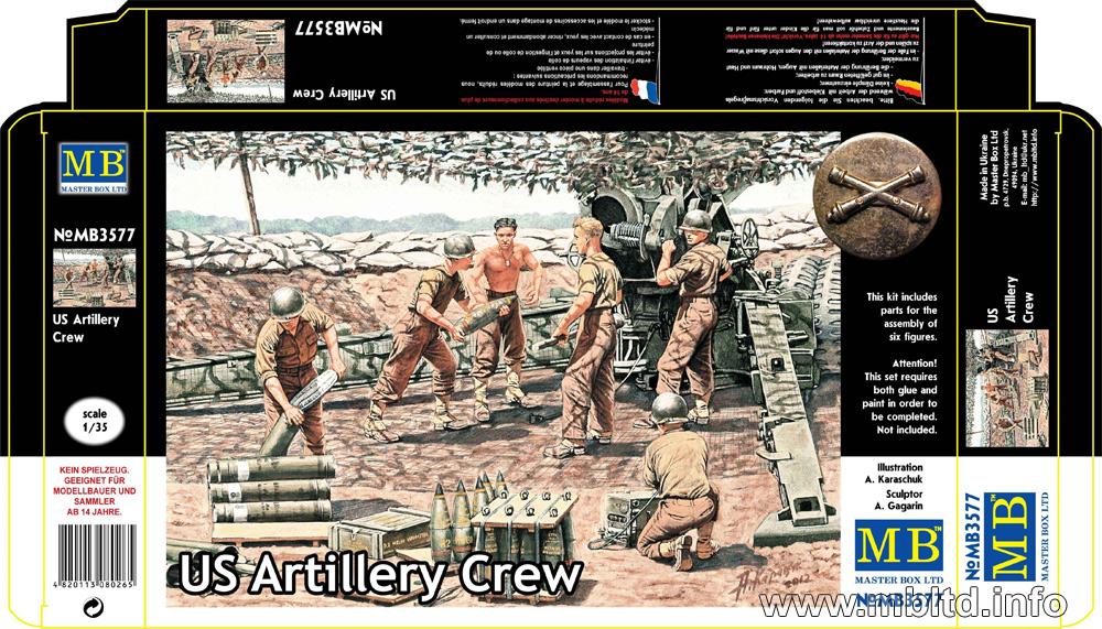 MASTER BOX US Artillery Crew