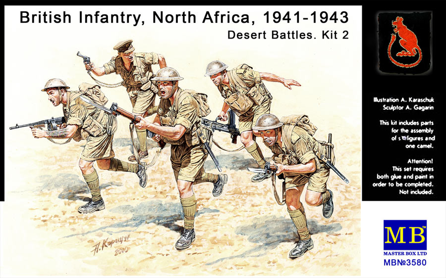 MASTER BOX 1/35 British Infantry in action, Northern Africa, WW II era