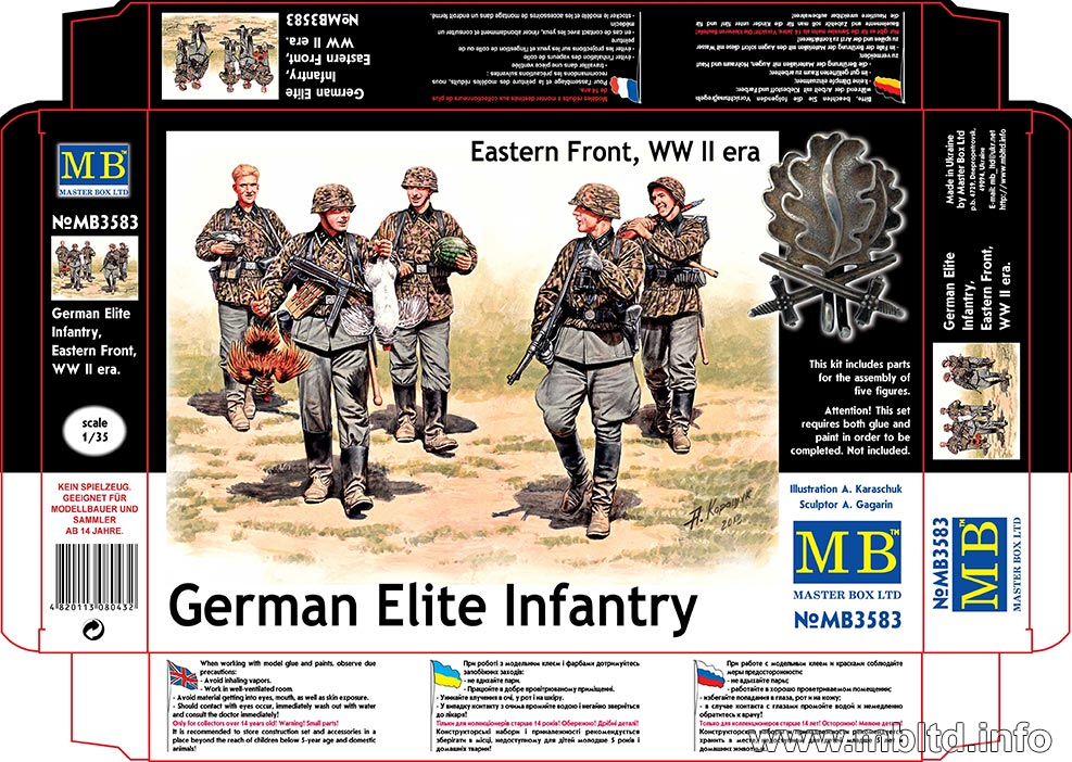 MASTER BOX German Elite Infantry, Eastern Front, WW II era
