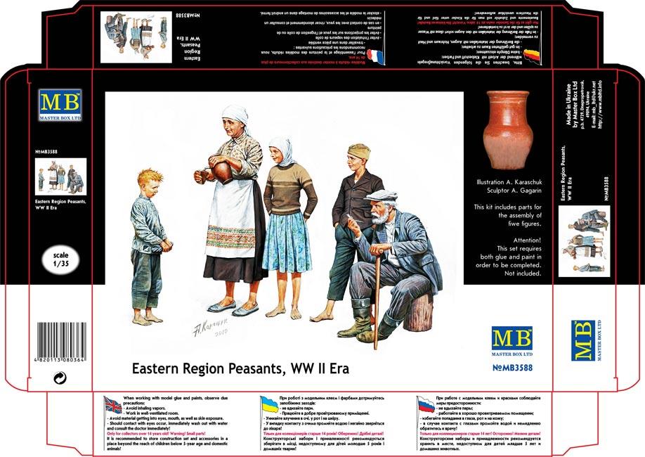 MASTER BOX Eastern Region Peasants, WW II era