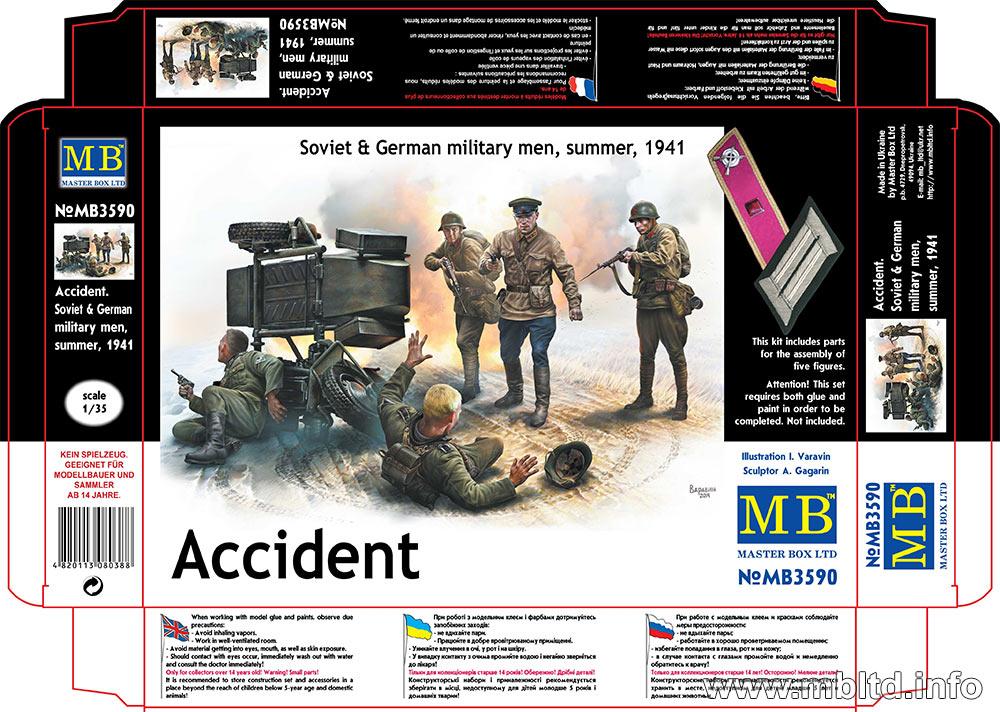 MASTER BOX 1/35 Accident. Soviet & German military men, summer 1941