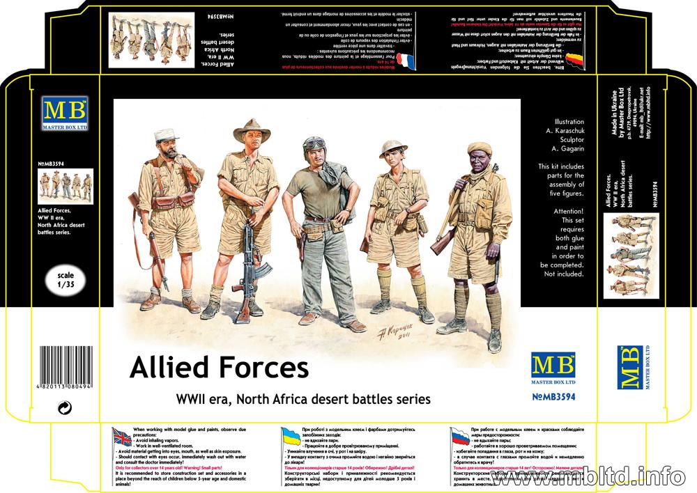 MASTER BOX 1/35 Allied Forces, WW II era, North Africa, desert battles series