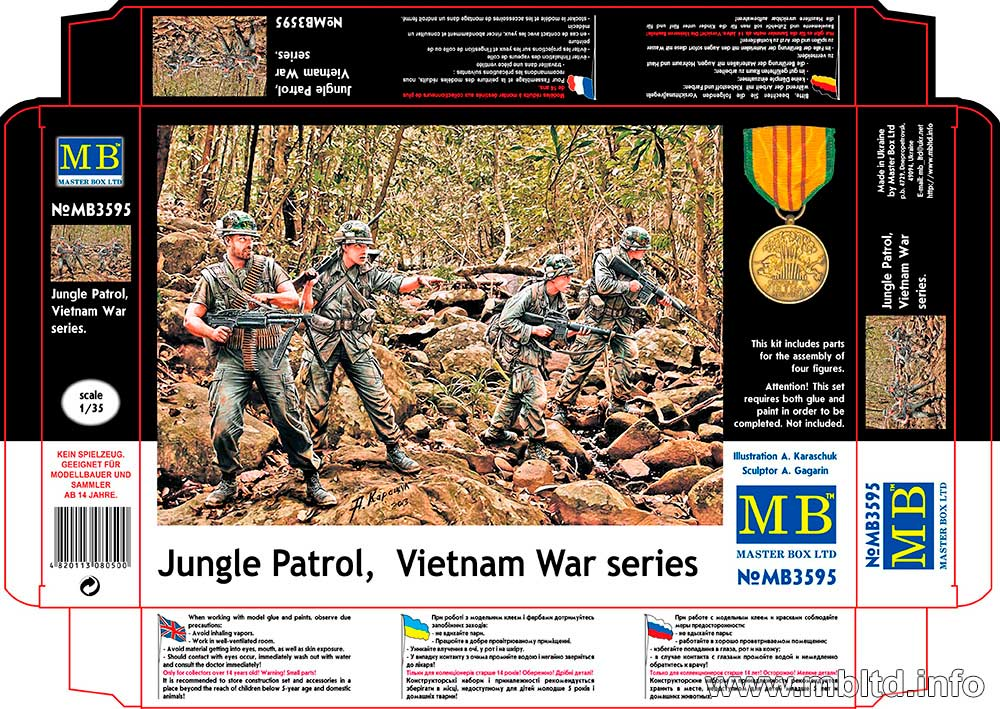 MASTER BOX 1/35 Jungle Patrol, Vietnam War series