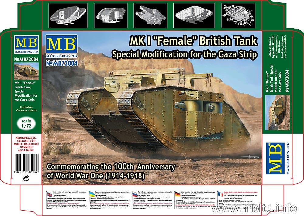 "MASTER BOX 1/72 MK I ""Female"" British Tank, Special Modification for the Gaza Strip"