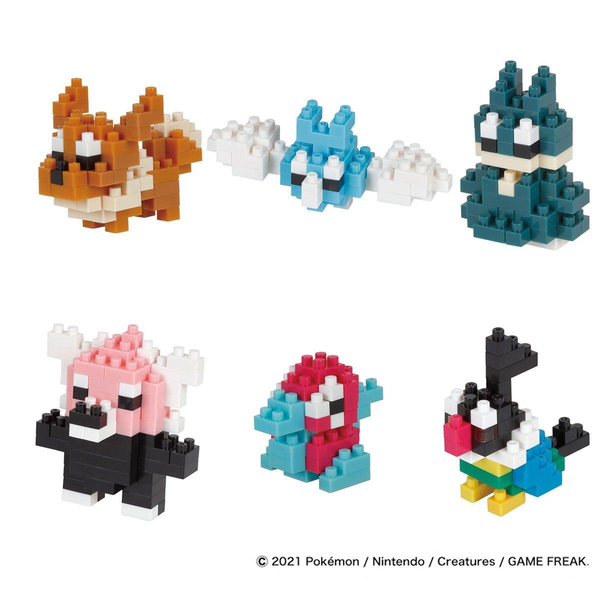 Nanoblock Mininano Series Pokemon Type Normal Set 1