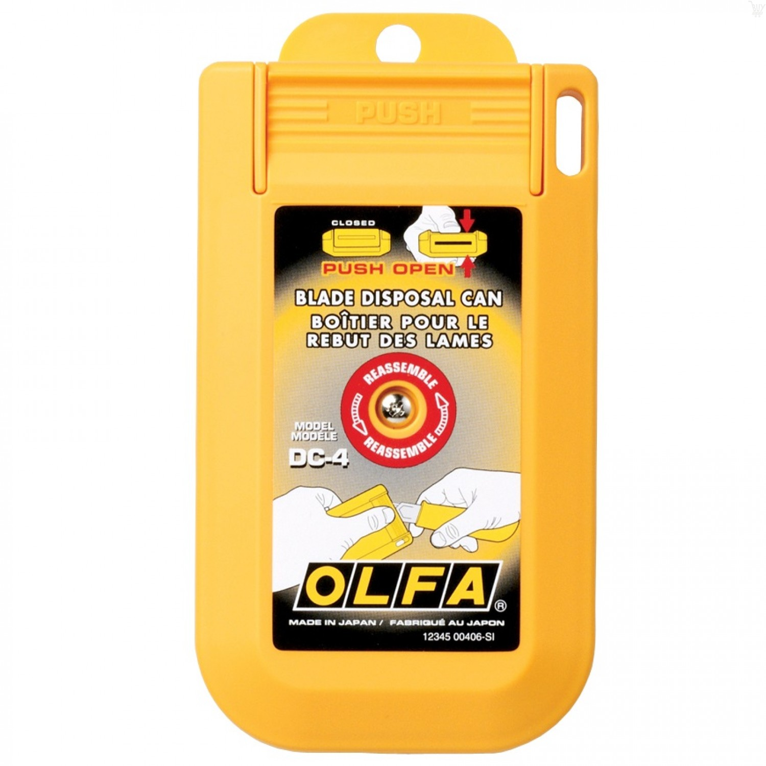OLFA DC-4 Blade Disposal Case with Mounting Hole