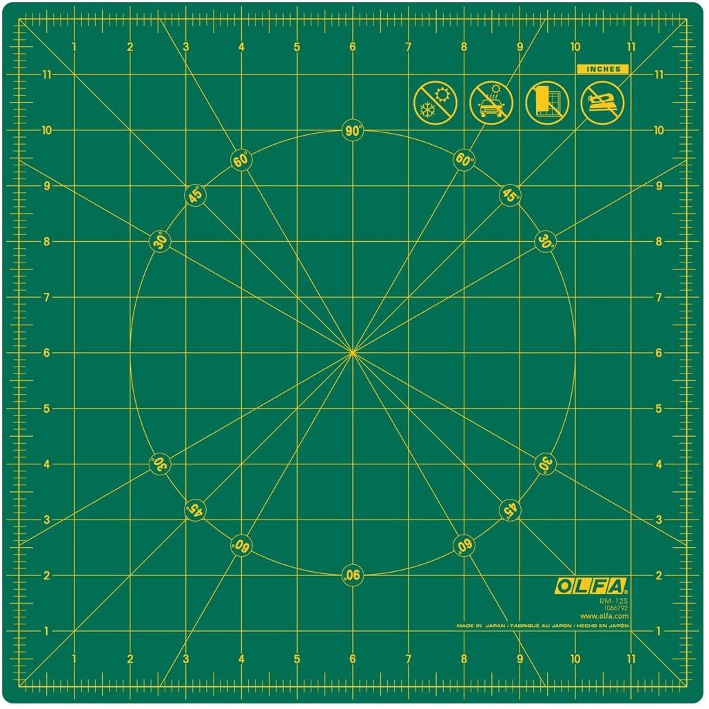 "OLFA 12"" Rotating Rotary Cutting Mat (RM-12S)"