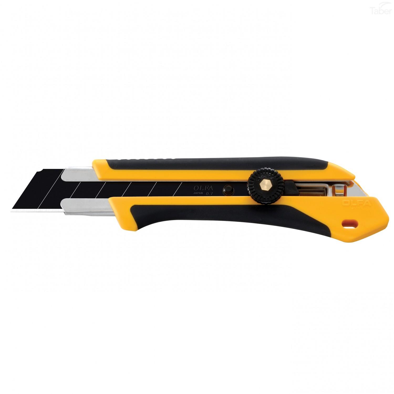 OLFA 25mm XH-1 Design Series Rubber Grip Ratchet-Lock Fiberglass Reinforced Cutter Knife