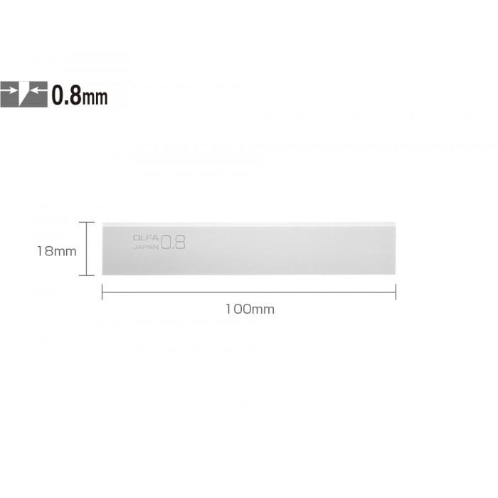 "OLFA 100mm BS08-6B 4"" Thick Scraper Blades (6/PACK)"