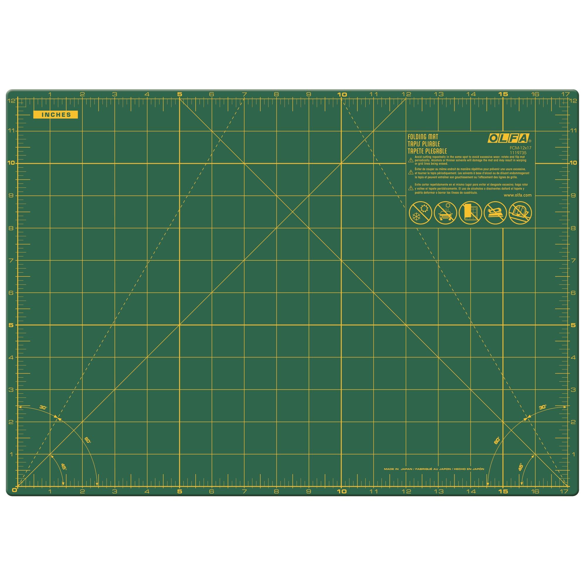 "OLFA 12""x17"" Folding Cutting Mat (FCM-12x17)"