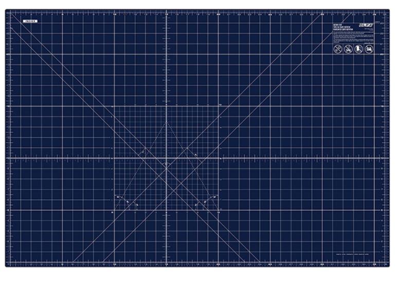"""OLFA 24"""" x 36"""" Double Sided Rotary Mat, Navy (RM-MG/NBL)"""