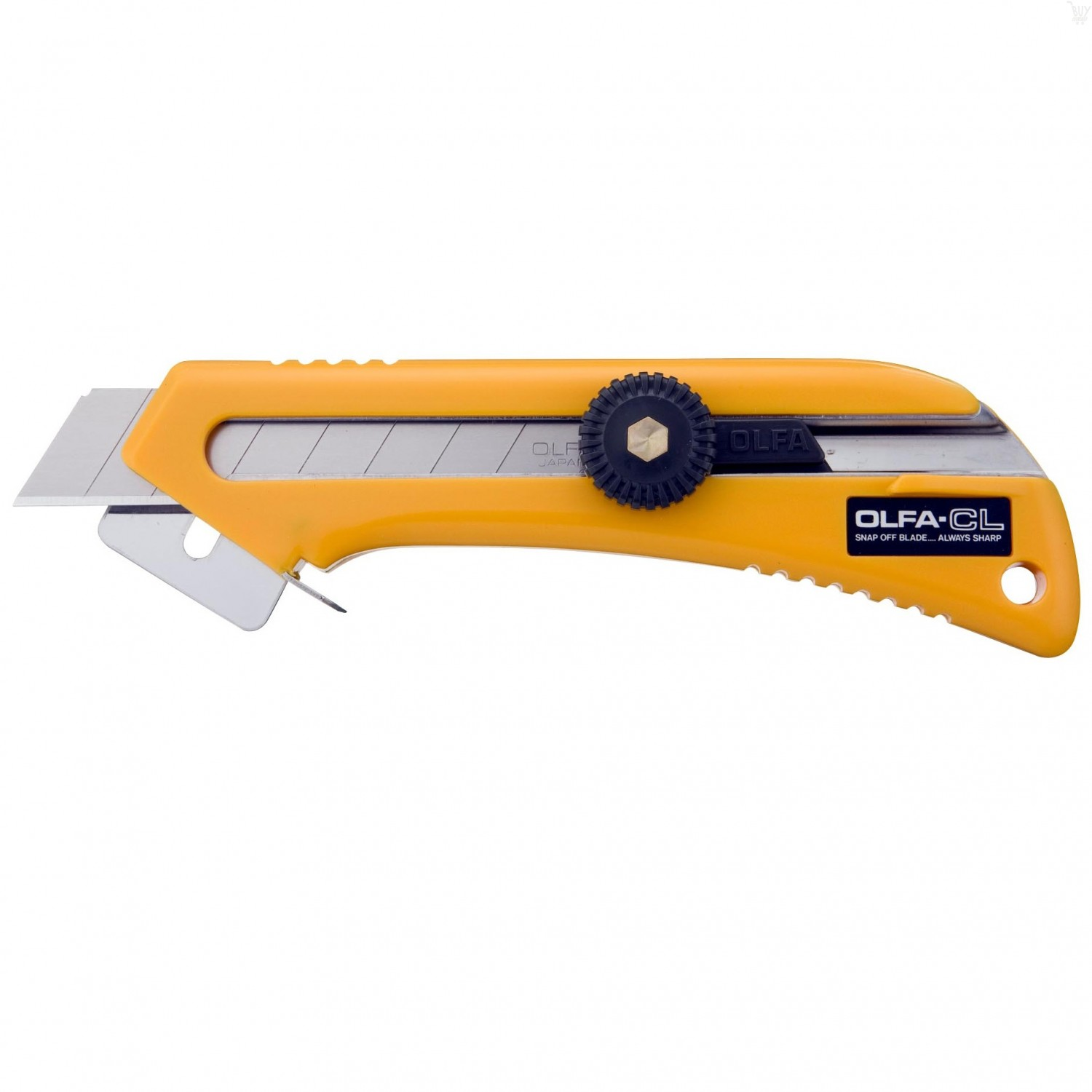 OLFA 18mm CL Carton & Packaging Materials Utility Knife with Depth Gauge