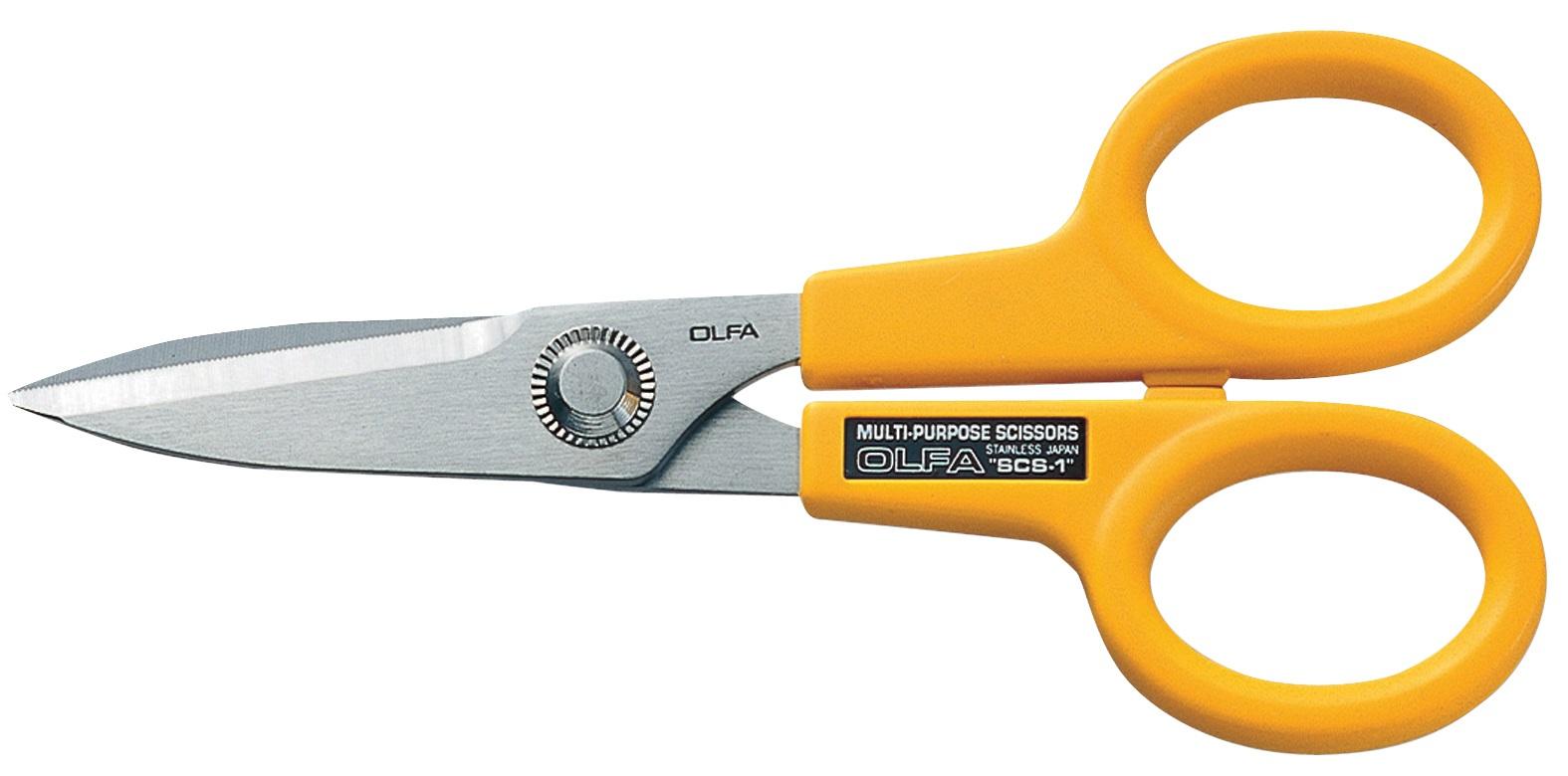 "OLFA 5"" Serrated-Edge Stainlss Steel Scissors (SCS-1)"