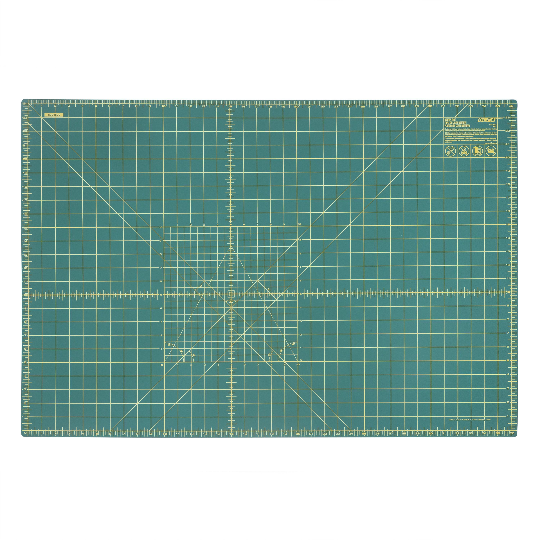 "OLFA 24"" x 36"" Double Sided Rotary Mat, Green (RM-MG)"