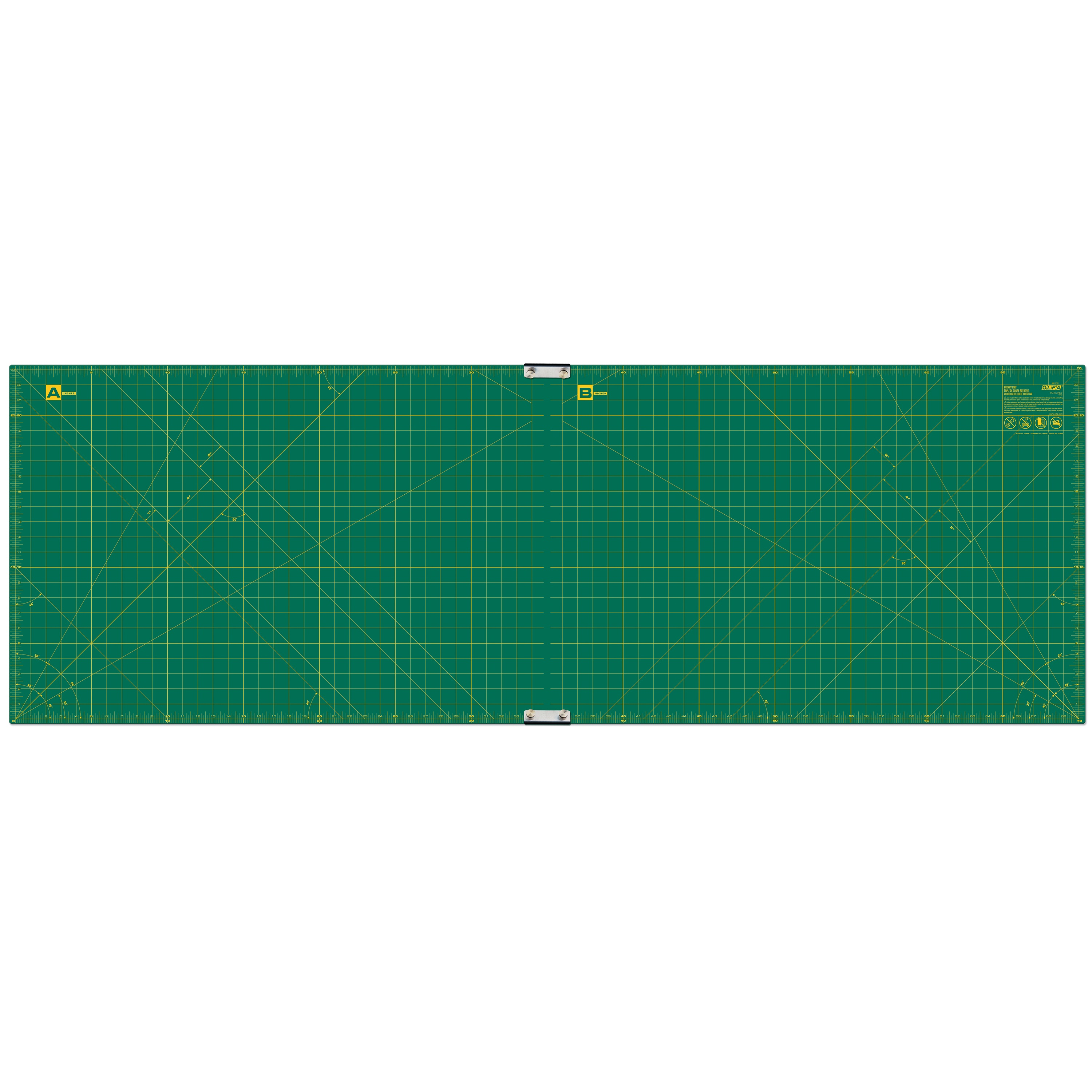 "OLFA 23"" x 70"" Continuous Grid Rotary Mat Set (RM-CLIPS/2)"