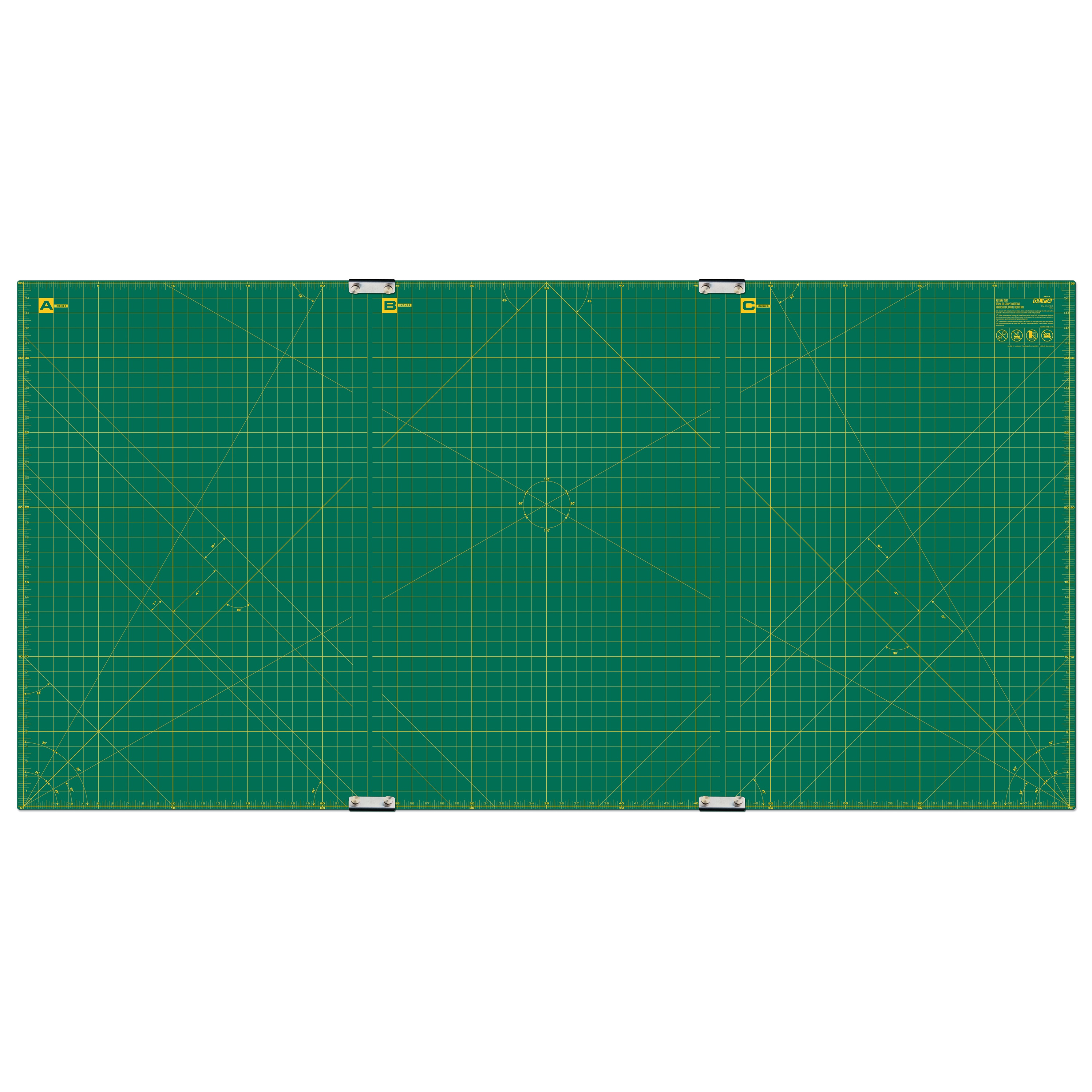 "OLFA 35"" x 70"" Continuous Grid Rotary Mat Set (RM-CLIPS/3)"