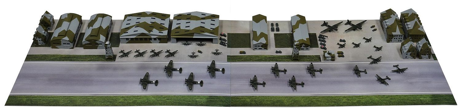 Pit Road 1/700 WWII German Air Force Base Construction Model