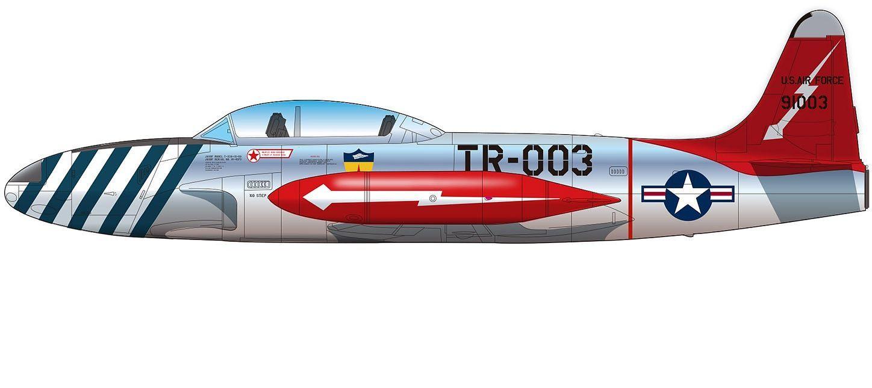 Platz 1/72 USAF Jet Trainer T-33A Shooting Star 'Skyblazers'