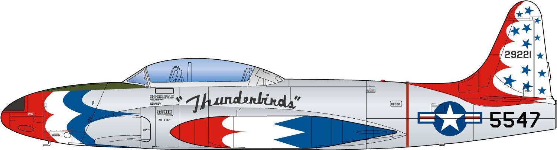 "Platz 1/72 USAF T-33A Shooting Star ""Thunderbirds"""
