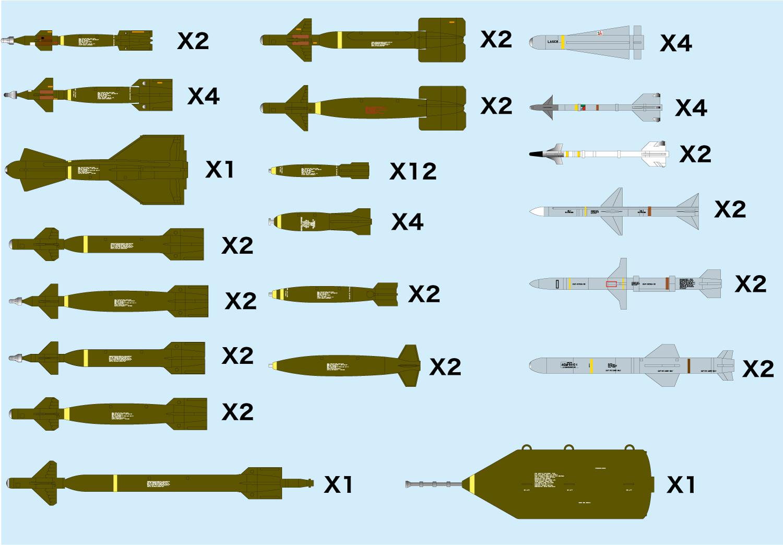Platz 1/144 Weapon Set 2 Precision-Guided Munition & Missile '70