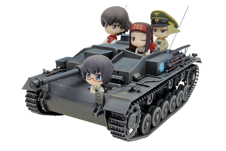 Platz 1/35 GIRLS und PANZER Sturmgeschutz III Ausf. F TEAM KABASAN Tank with Mini Prepainted Figure Set