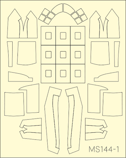 Platz Masking Sheet for 1/144 C-46D Commando