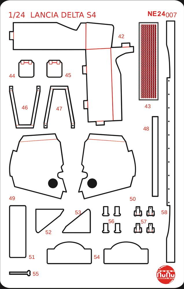 Platz NuNu 1/24 Detail Up Parts for LANCIA Delta S4 86 Sanremo Rally