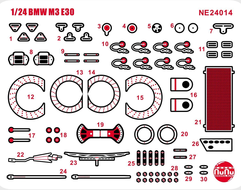 Platz Detail-Up Parts for 1/24 BMW M3 E30 Gr.A '91 Auto Tech