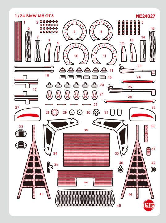 Platz NuNu 1/24 Detail-up Parts for BMW M6 GT3 Rundstrecken-Trophy 2020 Winner