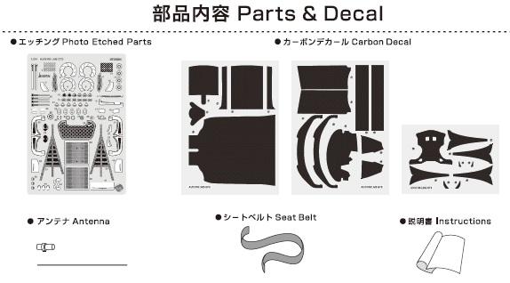Platz NuNu 1/24 Detail-Up Parts for Audi Hong Kong R8 2015 Macau GT