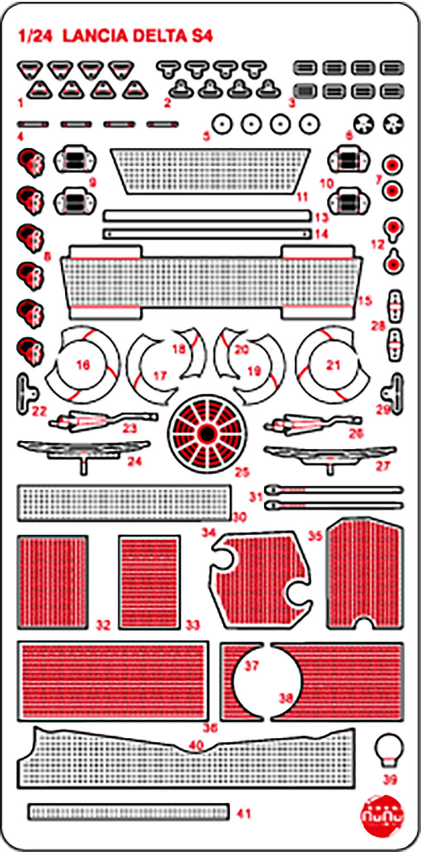 Platz NuNu Detail-Up Parts for Lancia Delta S4 '86 Monte Carlo Rally
