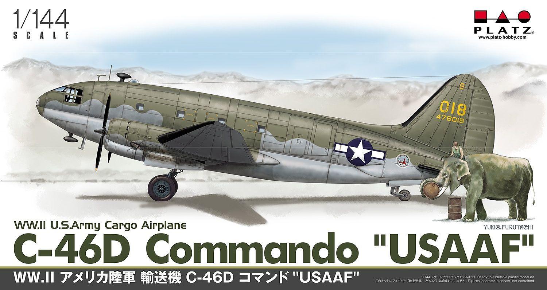 Platz 1/144 WWII US Army Cargo Airplane C-46D Commando USAAF