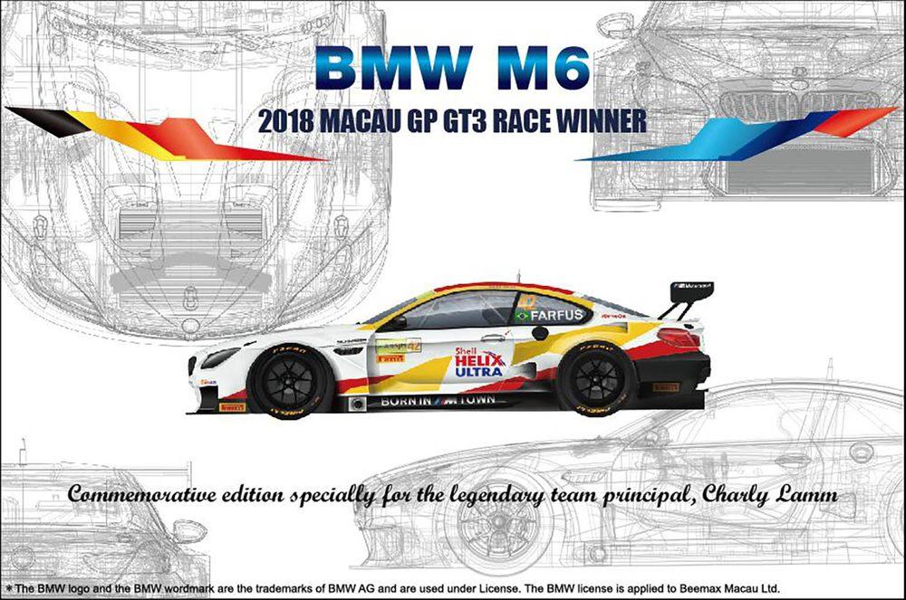 Platz NuNu 1/24 BMW M6 2018 MACAU GP GT3 RACE WINNER, Vehicle