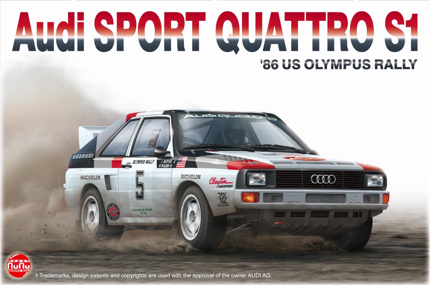 Platz NuNu 1/24 Audi Sports Quattro S1 1986 US Olympus Rally