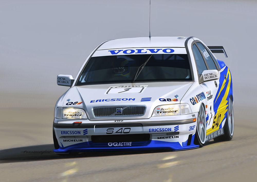 Platz NuNu 1/24 Racing Series VOLVO S40 1997 BTCC Brands Hatch Winner