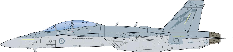 "Platz x Italeri 1/48 RAAF Electronic Warfare Aircraft EA-18G Growler ""No.6 Squadron"""